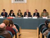 En la entrega de premios del Premio Nacional de Novela Ducado de Loches 2005 con los 3 ganadores.