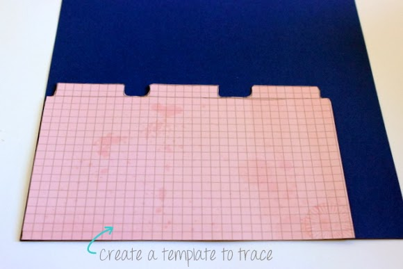 First, create a template for your section dividers