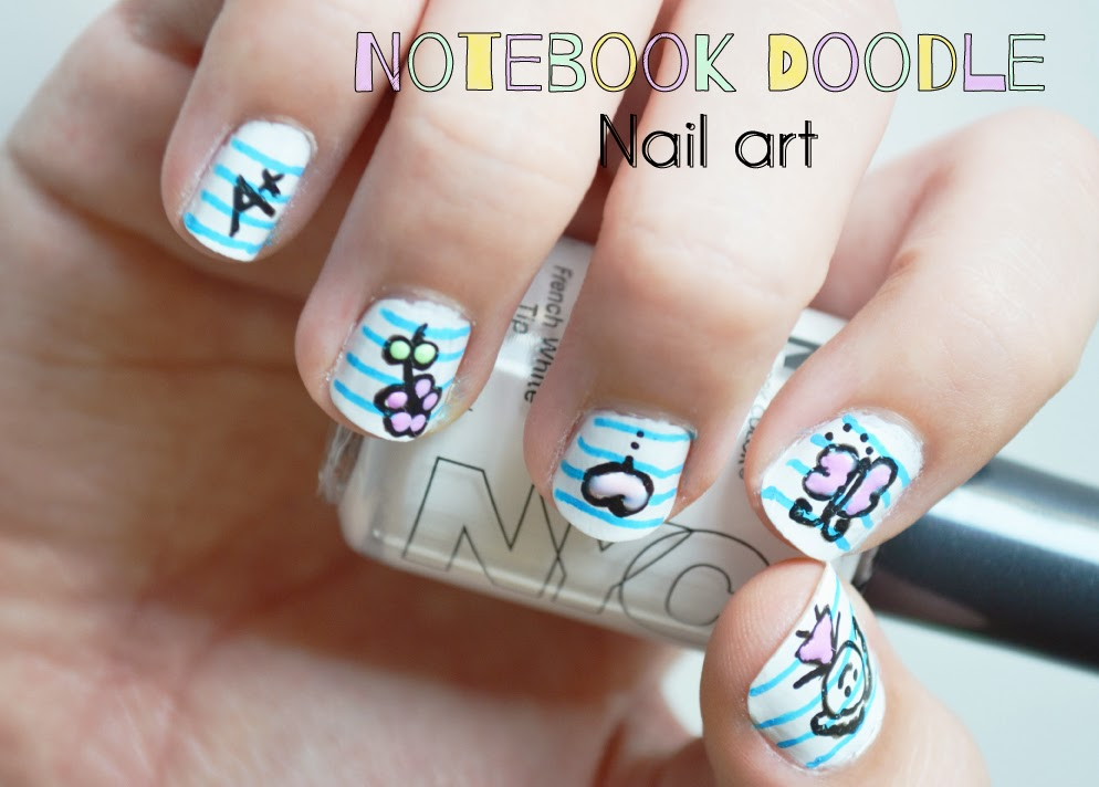 Sunny by design notebook doodle nail art tutorial notebook doodle nail art tutorial prinsesfo Gallery