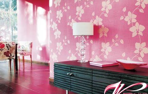 pink wallpaper room. Charming Mauve Wallpaper