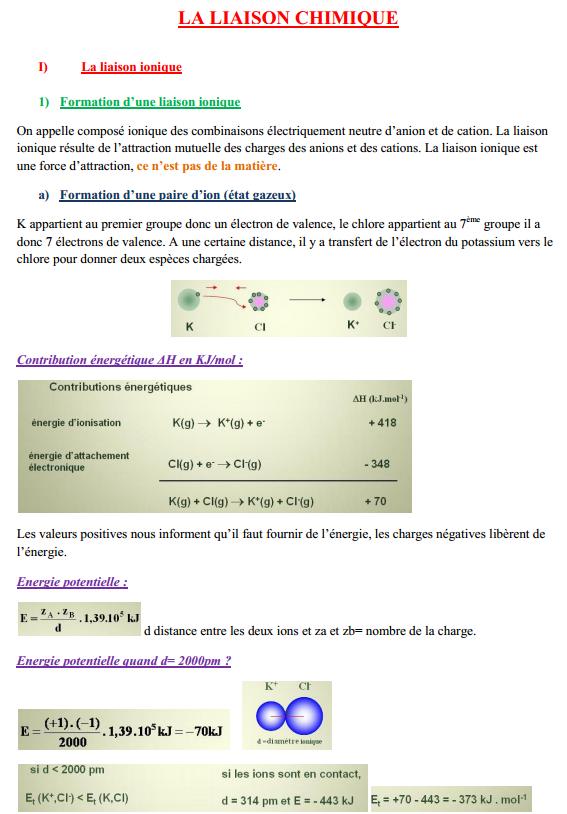 la liaison chimique cours smpc s2