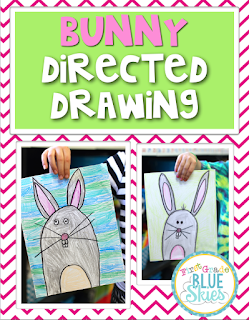 http://firstgradeblueskies.blogspot.com/2015/03/bunny-and-bird-directed-drawing-video.html