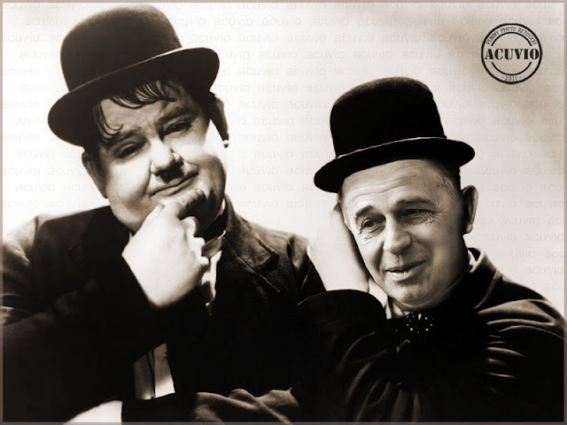 Funny photo Mircea Geoana Laurel and Hardy
