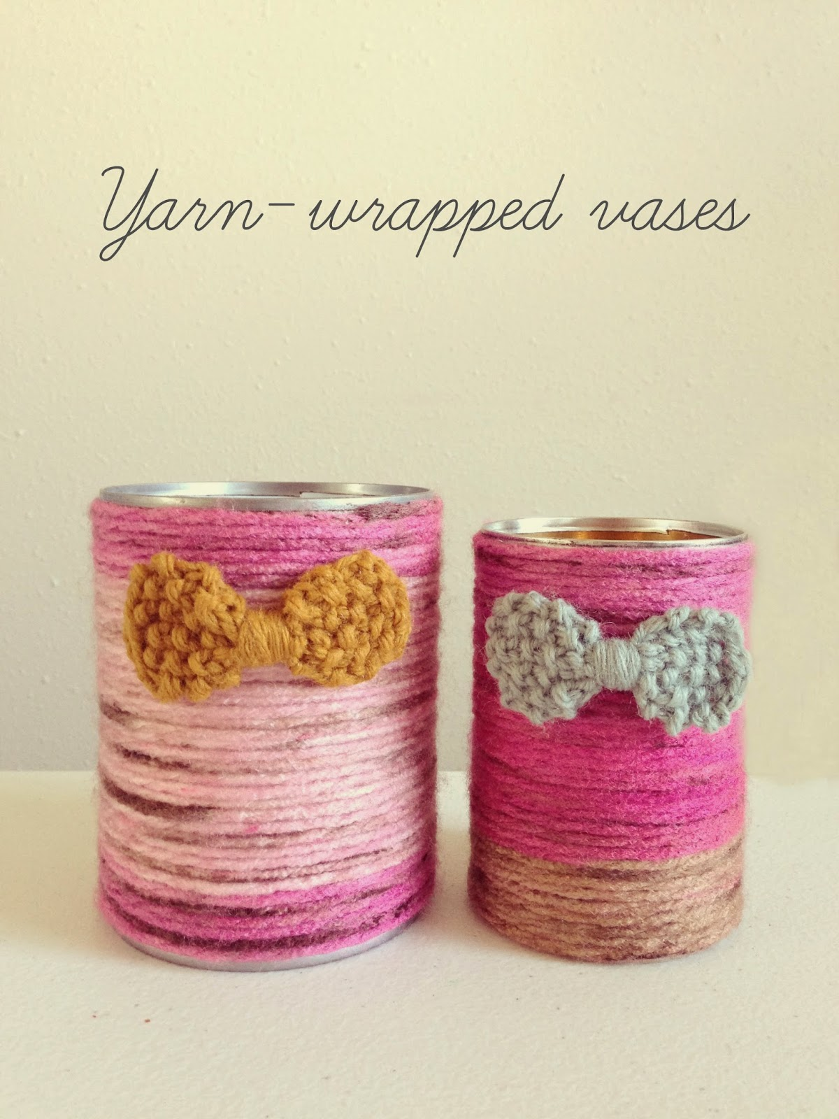 DIY: Yarn-wrapped vase