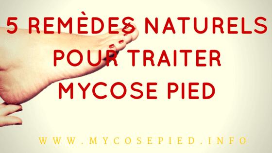 5 Remèdes naturels pour traiter mycose pied
