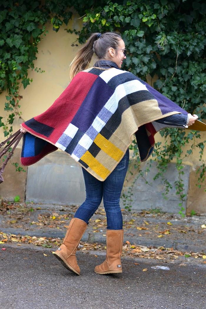 poncho multicolor