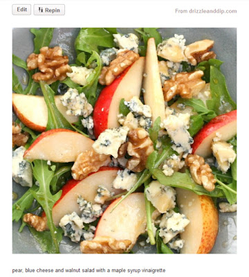salad walnuts blue cheese pear arugula