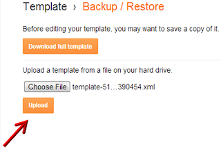 how to back up template