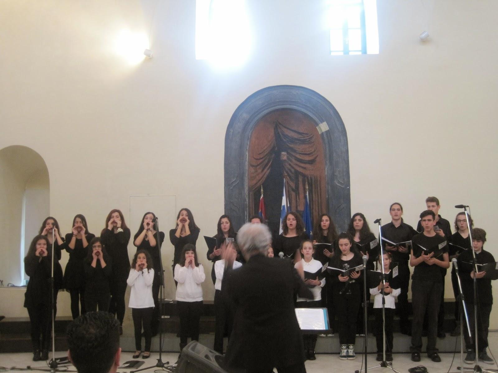 Η Χορωδία του Τροφώνιου Ωδείου στο Χορωδιάκό Φεστιβάλ του δήμου Λυκόβρυσης - Πεύκης
