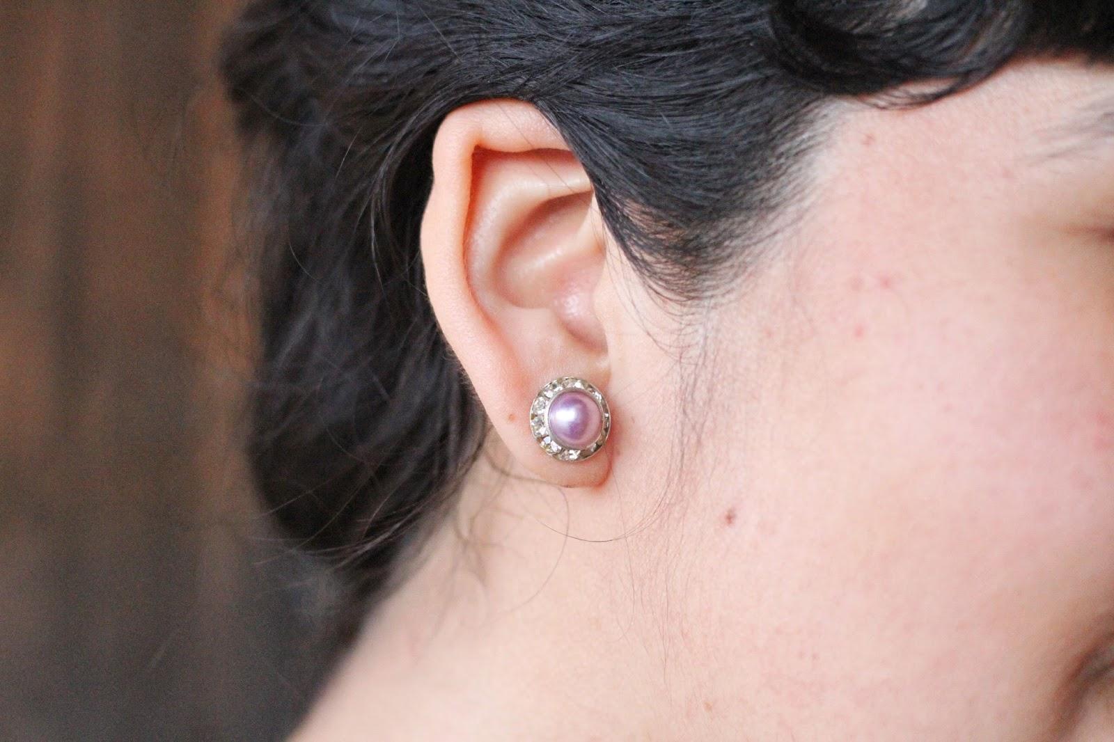 Purple Stud Earring