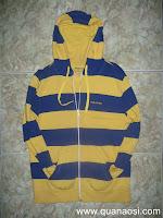 Áo khoác thun sọc vàng xanh hiệu POLHAM 80k