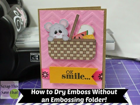 Dry Emboss, Card, Mouse, Smile, Chevron