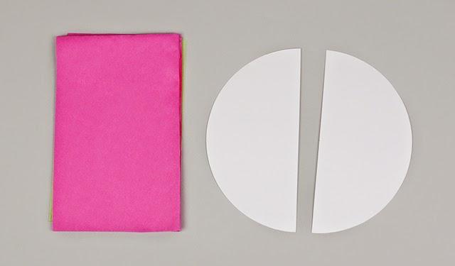 semicírculos y rectángulos de papel de seda