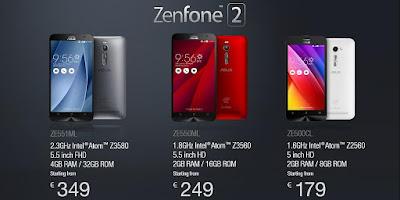 Harga dan Spesifikasi HP Asus Zenfone 2 Deluxe, Spesifikasi RAM 4GB Terbaru