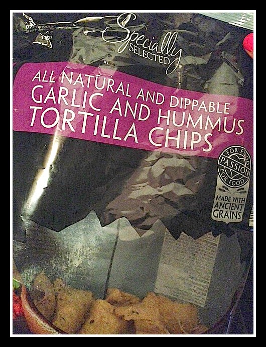 Garlic and Hummus Tortilla Chips - Aldi