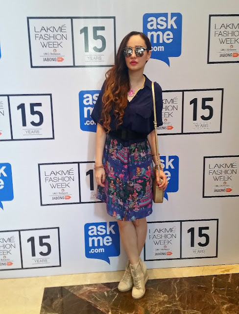 Stephanie Timmins in QuirkBox Love Story Collection at Lakme Fashion Week Winter Festive'15