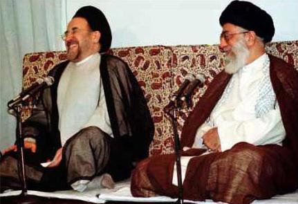 خنده خاتمی ، خنده خامنه ای ، اصلاح طلب ، ولایت فقیه ، جمهوری اسلامی ، آخوند مکار ، دوم خرداد ،