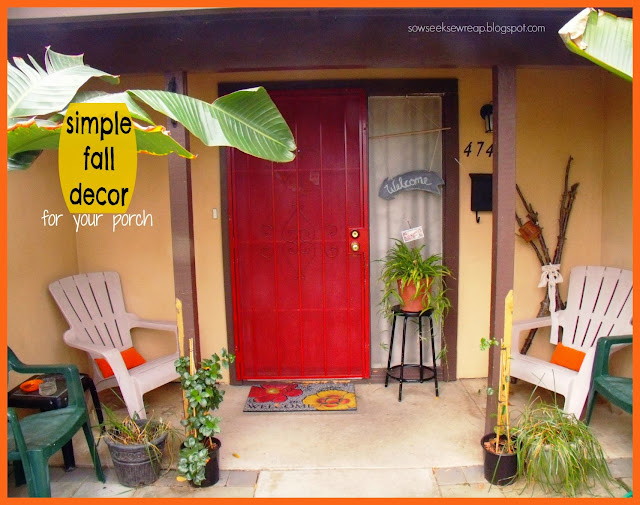 EASY FALL DECOR, SIMPLE FALL DECOR, FRONT PORCH, FALL PORCH