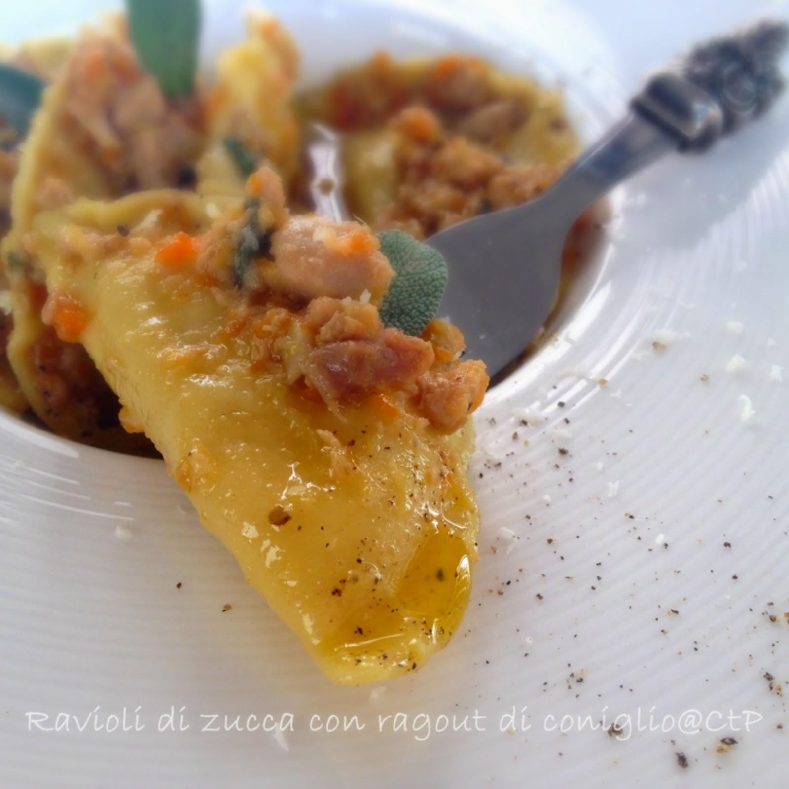 vernacchia san gimignano Ravioli di Zucca con ragout di coniglio
