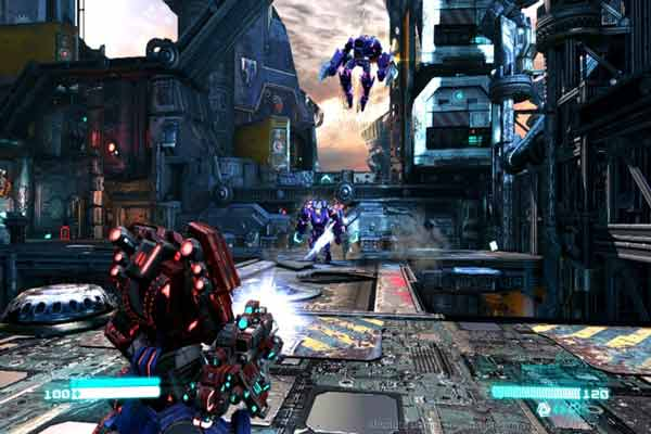 Screen Shot Of Transformers Fall of Cybertron (2012) Full PC Game Free Download At worldfree4u.com