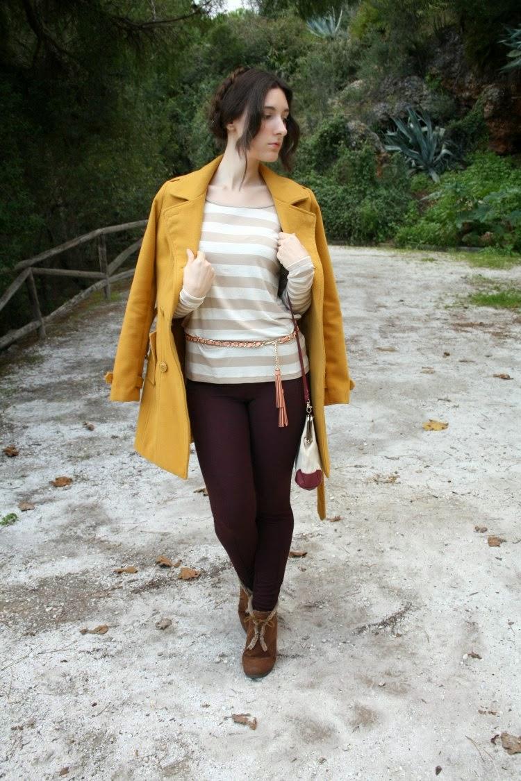 OOTD: yellow coat