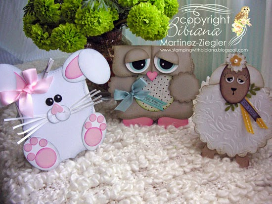 animals easter candy holder bags