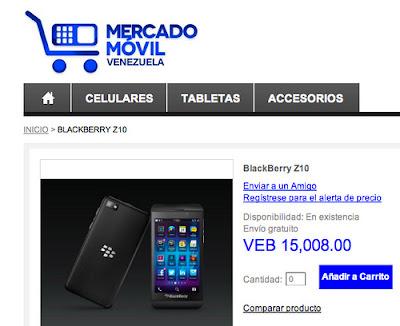 La gente de Brighstar como bien saben lanzó en el mercado venezolano un sitio web que hace la venta de dispositivos móviles: MercadoMovil.com.ve. Hoy en una actualización han incorporado la venta del famoso Blackberry Z10, lo que supone un pronto lanzamiento oficial en el país, lo que sabemos hasta ahora que justo después de semana santa, esa primera semana de Abril se esté realizando este evento. El precio en MercadoMovil es de Bs. 15.008 para los interesados en un equipo desbloqueado. Se espera que luego del anuncio oficial en el país tengamos detalle de cada una de las operadoras, planes