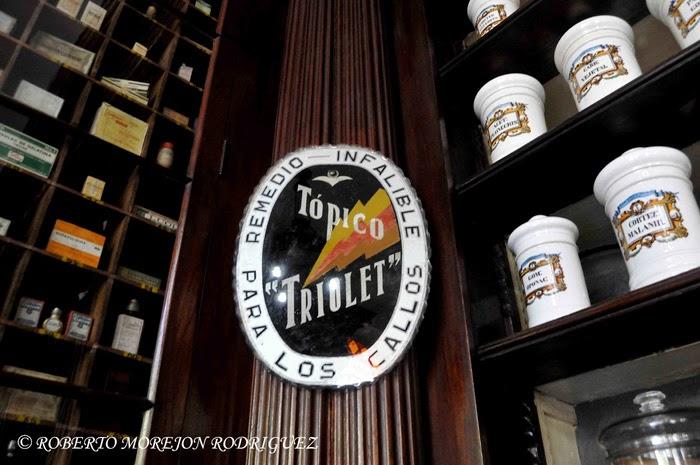 Museo Farmacéutico Ernesto Triolet, en la ciudad de Matanza, Cuba.