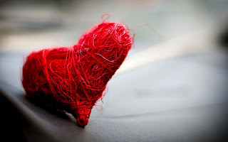 A Red Heart Made with small cord HD Love wallpaper