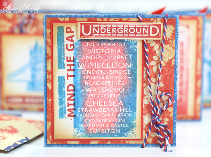 Artistic Outpost London Underground station names stamp