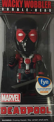 F.Y.E. Exclusive Inverse Black Suit Deadpool Wacky Wobbler Bobble Head by Funko