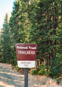 Kekekabic trail sign
