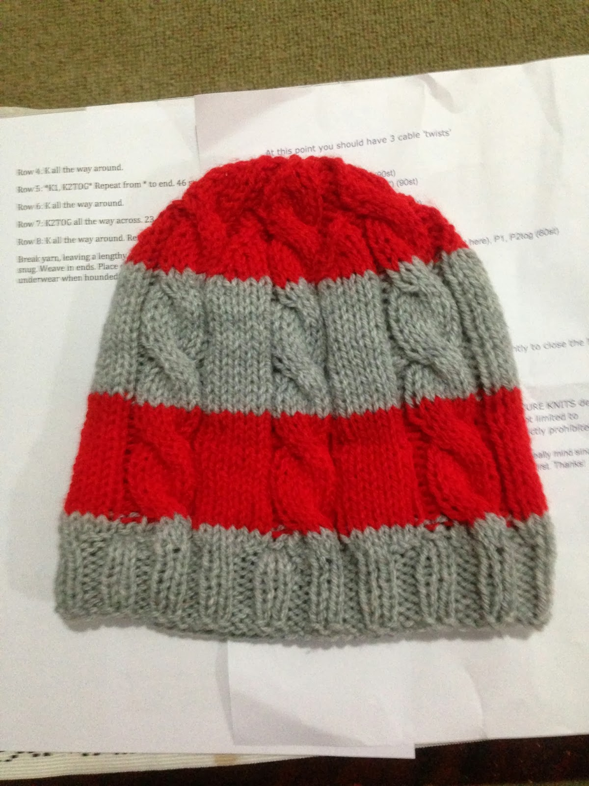 Knitting Circle Near Me : Hari ku cable hat knitting