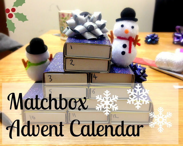 Handmade Matchbox Advent Calendar, #24daysofwren | AcupofT