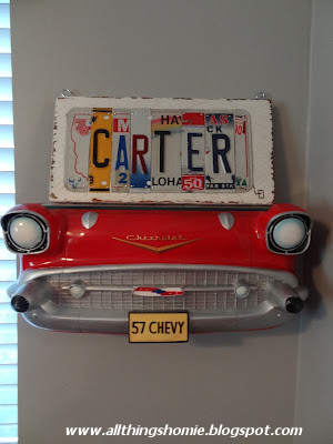 All things homie carter 39 s vintage chevy nursery reveal for Vintage car bedroom ideas