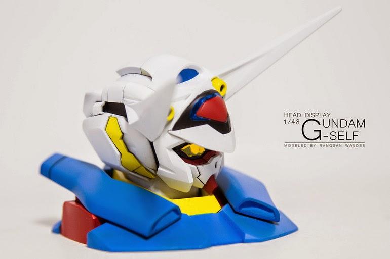 gundam G-self head display stand