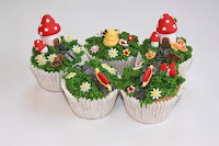 Magical garden cupcakes