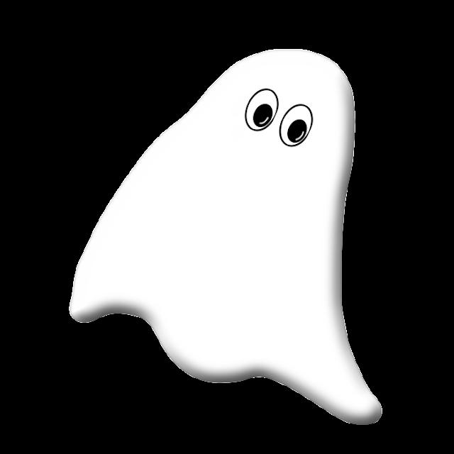Halloween Fantasma desenho colorido com fundo transparente