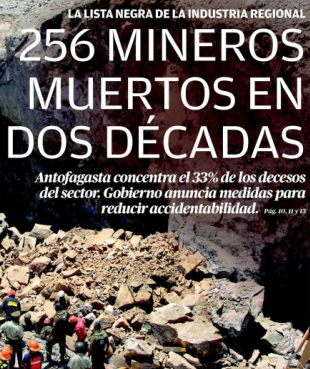 ANTOFAGASTA, RECORD DE ACCIDENTES MINEROS 1992-2012