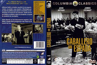 Carátula: Caballero sin espada (Frank Capra, 1939) Mr. Smith Goes to Washington