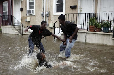 Having Fun in the Hurricane Irene Seen On www.coolpicturegallery.us