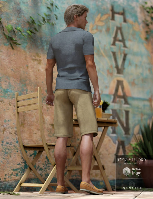 Casual Heat Outfit for Genesis 3 Male