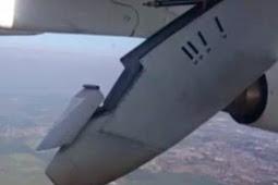Mengerikan, Bagian Sayap Jatuh Saat Penerbangan