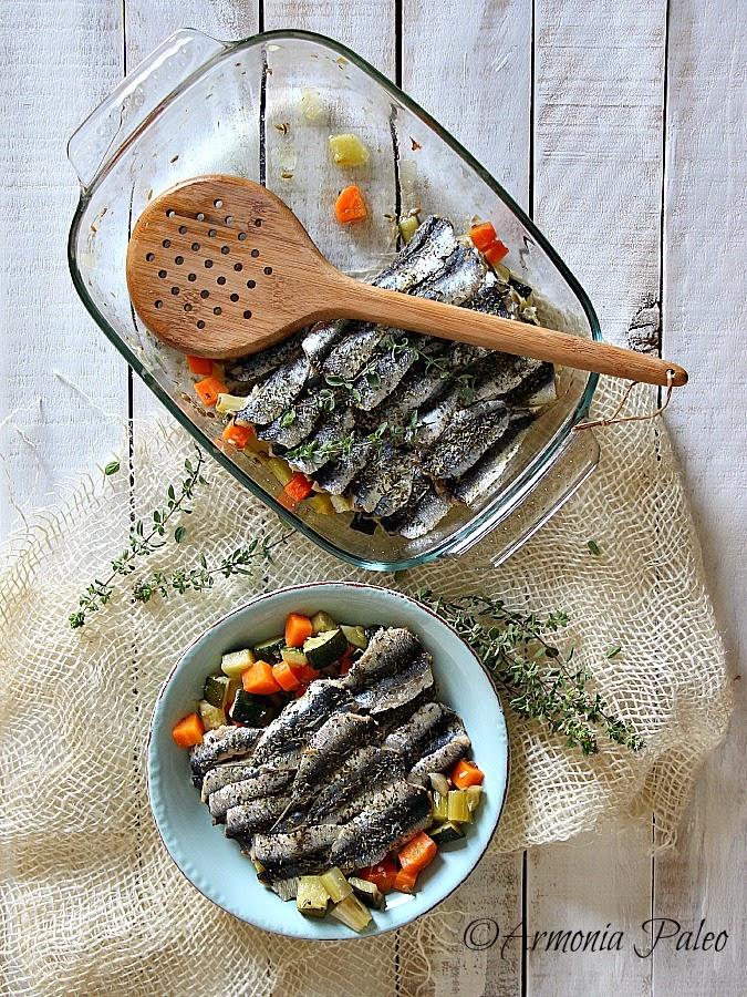 Sardine Brasate con Verdure di Armonia Paleo