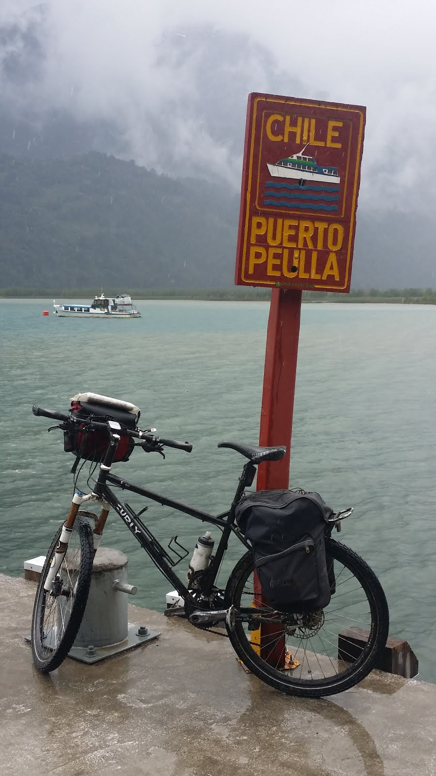 The touring but still Surly Troll on Lago Todos los Santos