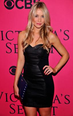 Katrina Bowden pink carpet at 2013 Victoria's Secret Fashion Show