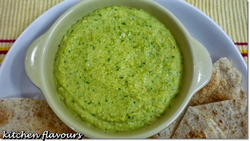 Look at the lovely Edamame Dip. It is not spicy at all! Just plain ...