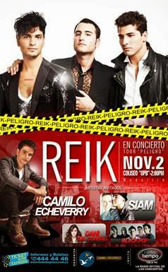 PELIGRO-TOUR-2013-MEDELLIN-Reik-Dani-del-Corral-Camilo-Echeverry