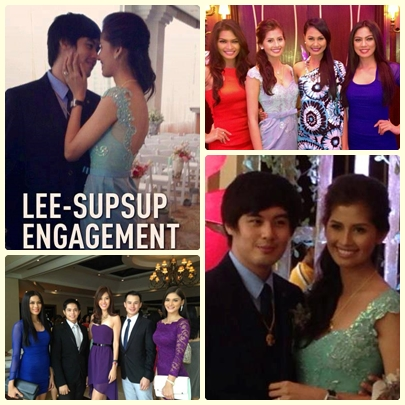 Shamcey Supsup and Lloyd Lee engagement [Venus Raj, Janine Tugonon and Ariella Arida with Shamcey] [Mark Besana with Pia Wurtzbach and Valerie Lim, Miss Universe Singapore 2011]