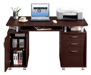 Techni Mobili Complete Computer Workstation with Cabinet ...